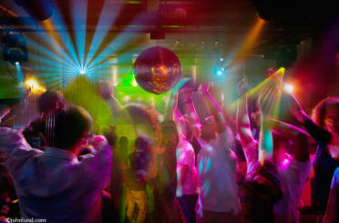 Stock photo of disco dancing