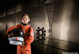 Space suit girl - Picture of a young girl in a space suit