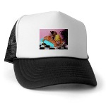 picture of massage cats imprinted on truckers baseball cap