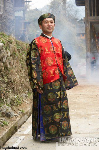 Tribal Chinese Man in Traditional Dress
