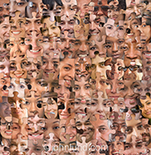 A jigsaw puzzle of people's faces represents social media in a stock photo about social networking, and the issues surrounding the use of social media both in society and in business. It also makes a great image for dealing with issues of diversity, demog