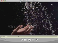 Woman's hands tossing up water in a super slow motion stock concept video clip