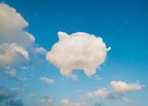 A cloud shaped like a piggy bank is a stock photo about banking and investment in the cloud, ecommerce, and online banking.