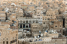This image of the Old City of Saana, Yemen gives in indication of the densely populated metropolis.