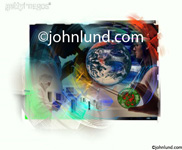 Stock photo montage of science elements including a petri dish, microscope, research facilities and the planet earth.