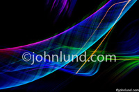 Foto of abstract light patterns showing energy in motion, cyberspace and mystery.