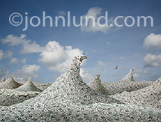 This money picture of a sea of dollars represents finance, cash flow, debt, abundance and many other currency, banking, and financial issues.