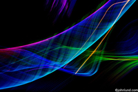 A complex multi-colored web of light trails form a concept stock image. It's a beautiful image of light patterns in blue,violet,green and orange. Swirling,twisting, and turning glowing patterns of light.